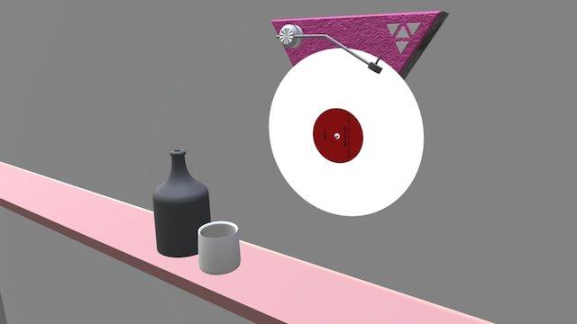 Plattenspieler 3D Model