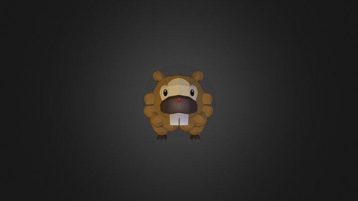 Bidoof (Pixelmon) 3D Model
