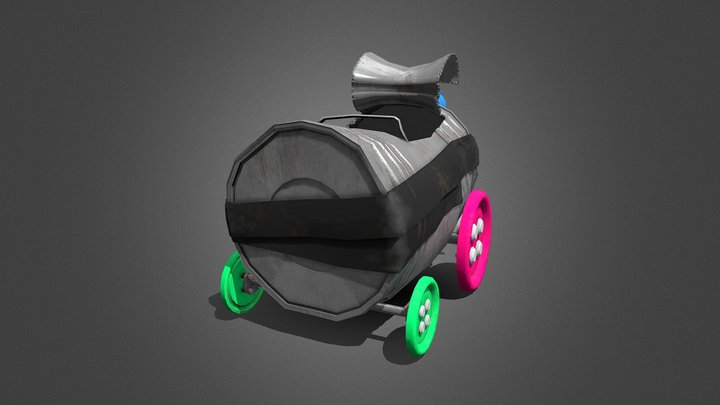 Tin Can Car 3D Model
