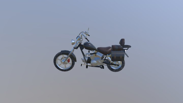 Moped, motorcycle. 3D Model