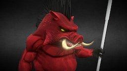 Pig Warrior (mobile) 3D Model