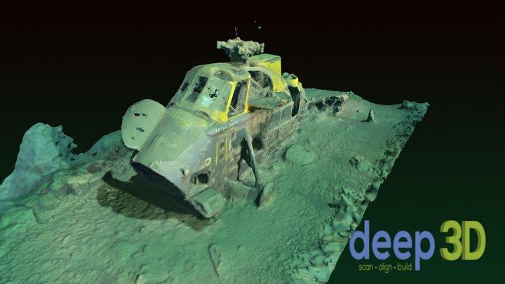 Underwater Westland Wessex XS122 3D Model
