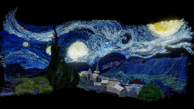 Starry Night Diorama Tilt Brush 3D Model