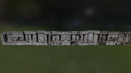 Xunantunich East Facade 3D Model