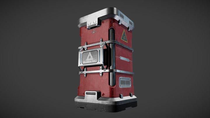 Sci-Fi Barrel 3D Model