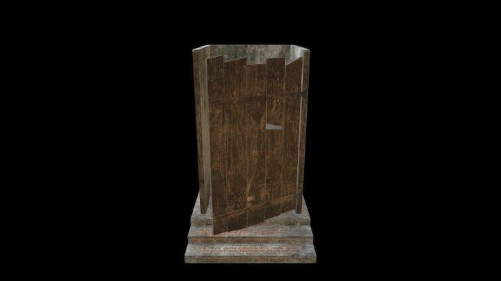 Village Toilet Cabin 3D Model