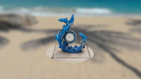 Dolphin Clock 3D Model