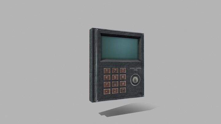 Access control panel Signaling 3D Model