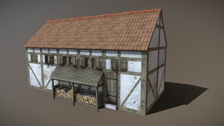 Rural brewery - 17th century 3D Model