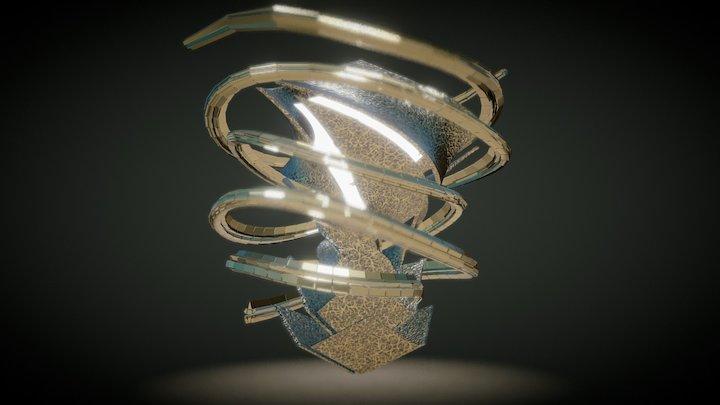 Spiral for Shibam 3D Model