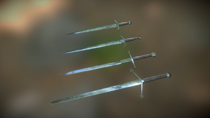 Historical Swords set 3D Model