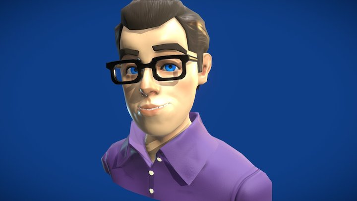 Toony Self Portrait 3D Model