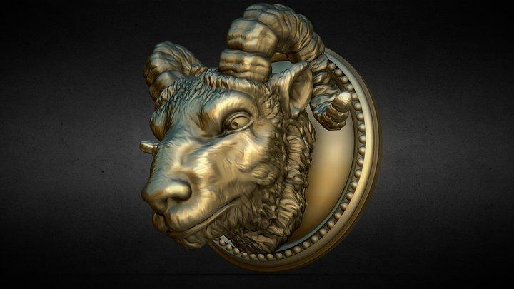 Nemoriko`s : Ram Aries Widder Ornament 3D Model