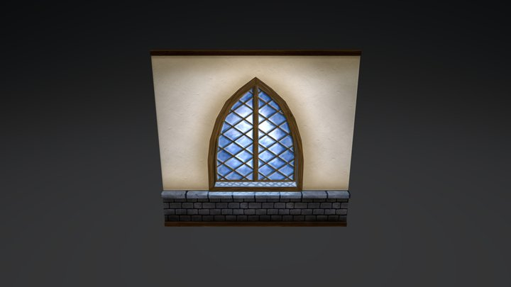 Wall and window 3D Model