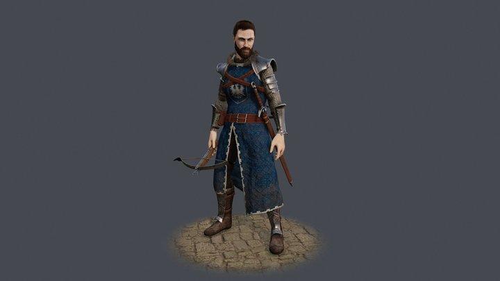 Khane the Ophiuchus warrior 3D Model