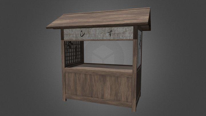 Food Stall in Edo 3D Model
