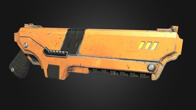 SciFi Pistol Version with 3d coat 3D Model