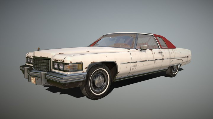 1976_Cadillac_Coupe 3D Model