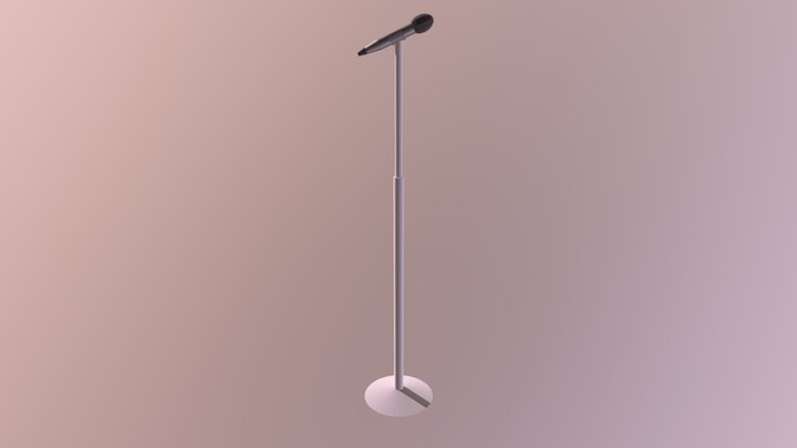 Basic Wireless Microphone with Stand 3D Model