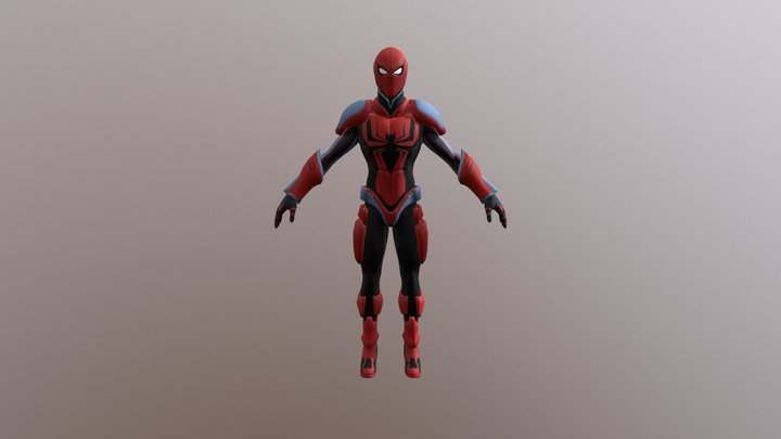 Spiderman Ends Of The Future 3D Model