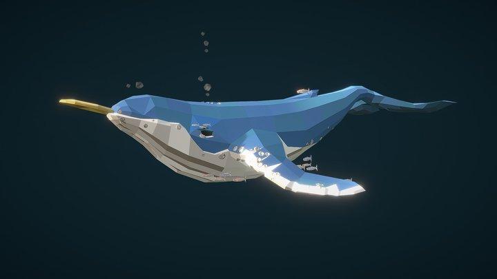 Lowpoly Whale 3D Model