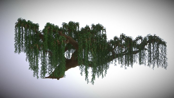 Minecraft Giant Willow Tree 3D Model
