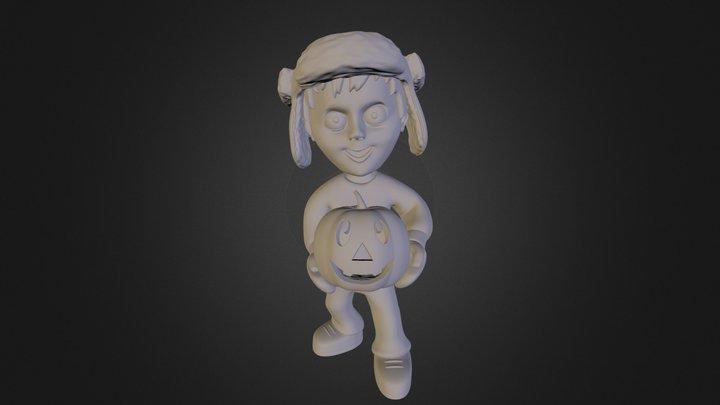 Boy with Jack-O-Lantern 3D Model