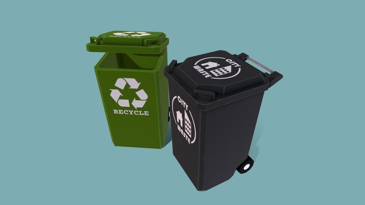 Trash and Recycle Bins [Parker's] 3D Model