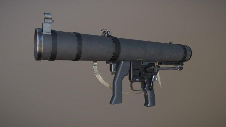 Military rocket launcher - Mk 153 SMAW 3D Model