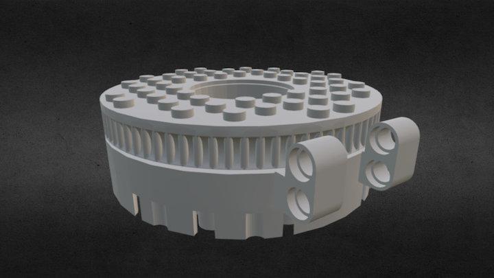 LEGO Compatbile Medium Sized Thrust Ball Bearing 3D Model
