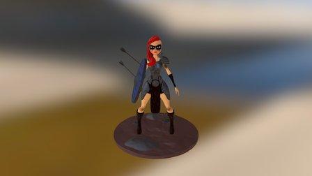 Barbarian Girl - Zbrush - EFV3300 3D Model