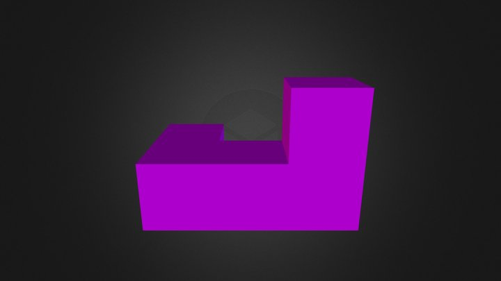 Purple Piece 3D Model