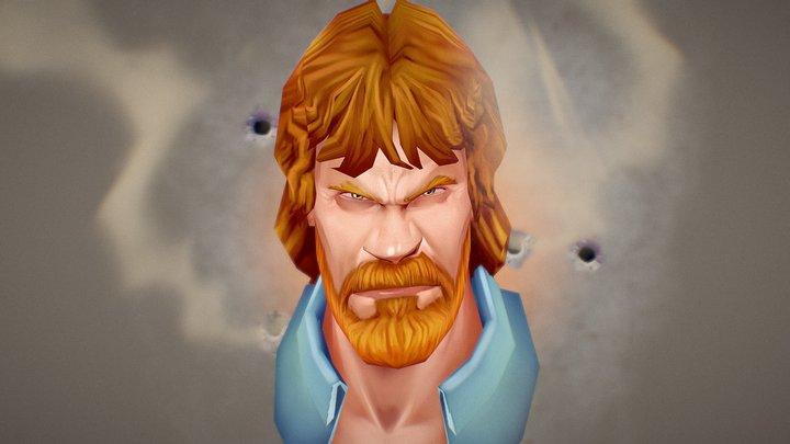 Chuck Norris - Handpainted 3D Model