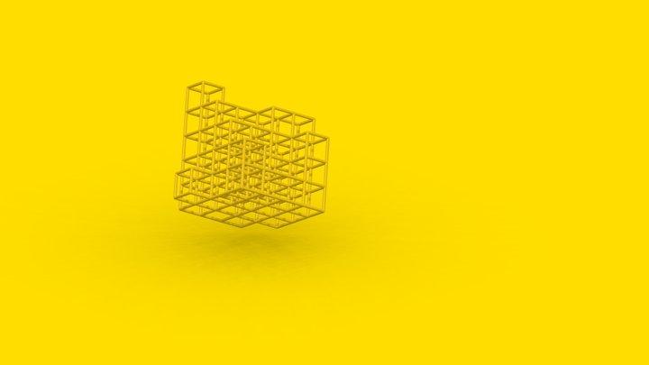 CUBED GRID - model 3D Model