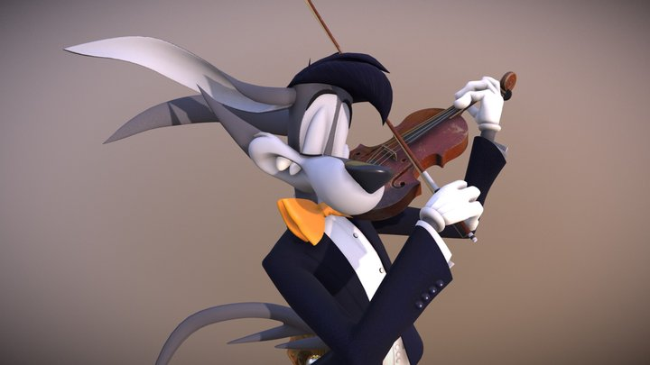 Vee the Violinist 3D Model