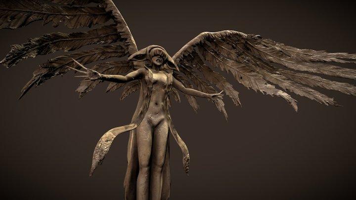 Angel Lust Statue 3D Model