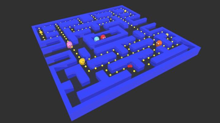 Pac Man 3D Model