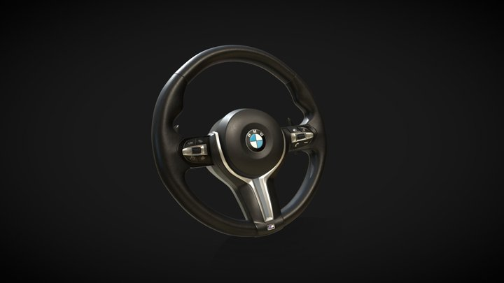 Steering wheel BMW 3D Model