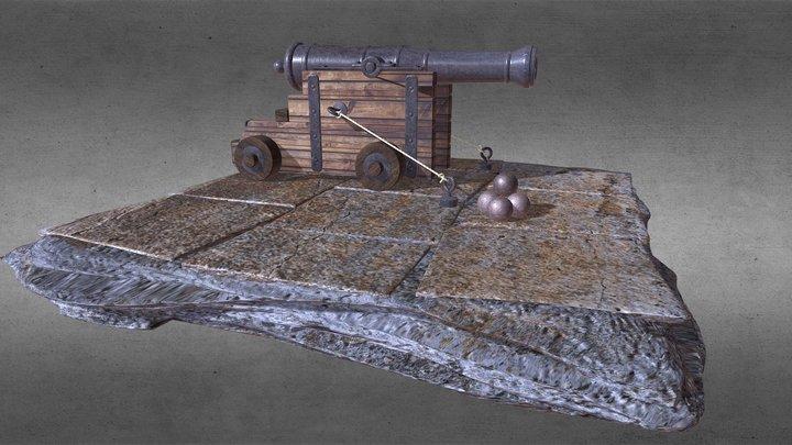 Anciente Cannon 3D Model