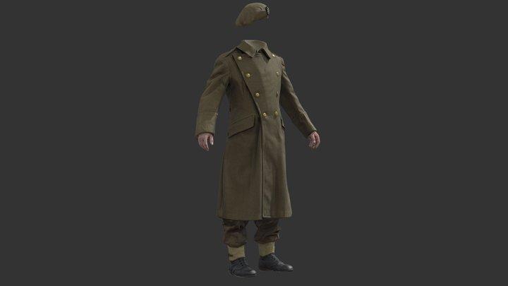English Officer Uniform - WW2 Scanned Asset Pack 3D Model