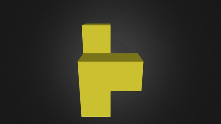 Demo yellow cubes 3D Model