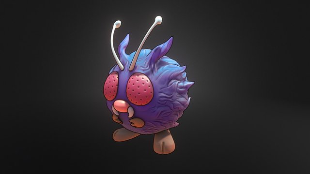 Venonat Pokemon 3D Model