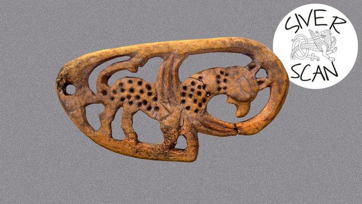 Підвіска із зображенням грифона із Зарічного 3D Model