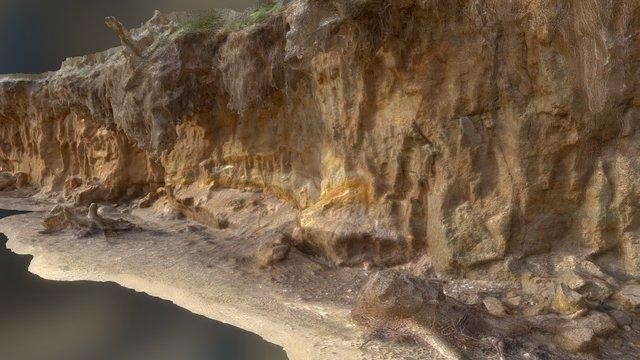 Eroding Beach Cliff: Part B 3D Model