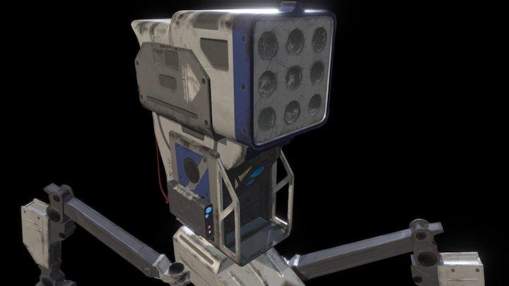 Missile Sentry Turret 3D Model