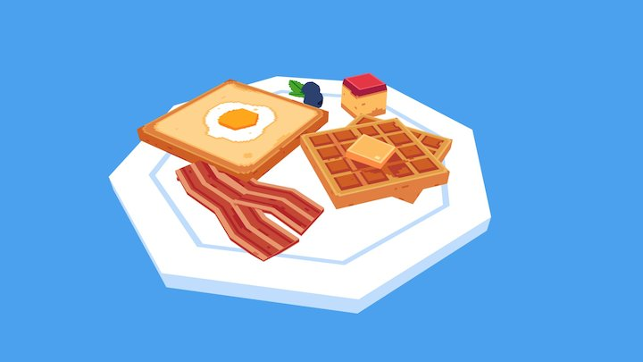 Breakfast! 3D Model