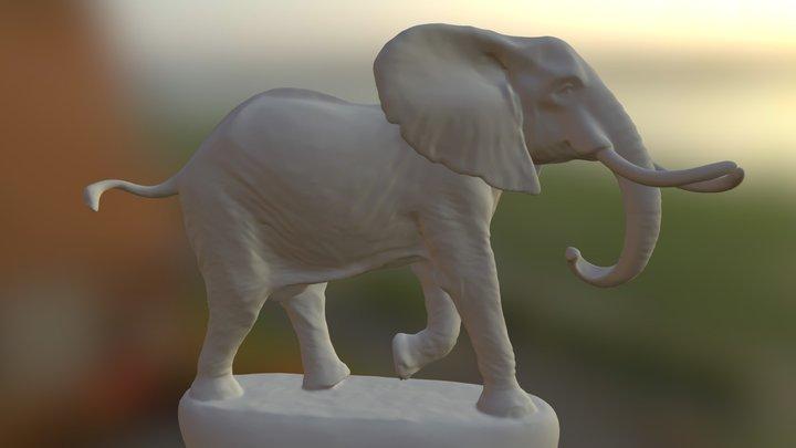 Elephant - Bronzart 3D Model