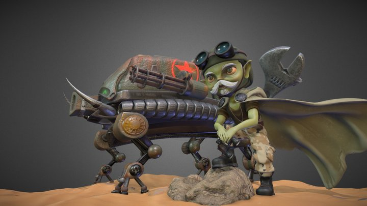 Desert Traveller 3D Model