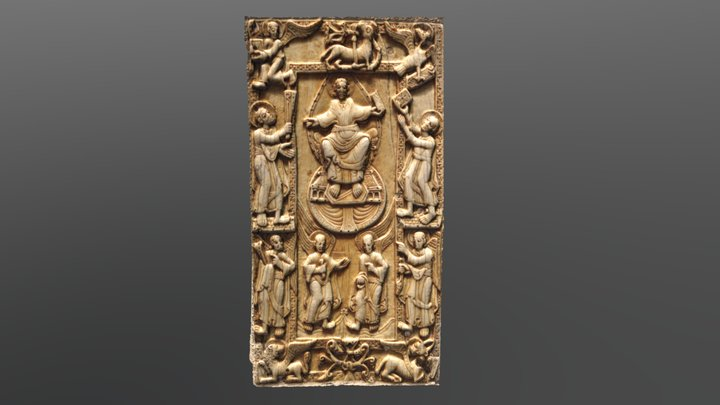Le Christ entre les saints Pierre et Paul 3D Model