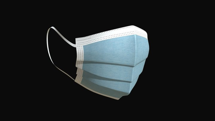 Surgical mask 2 3D Model